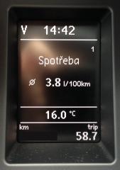 Spotřeba 3.8L/100km