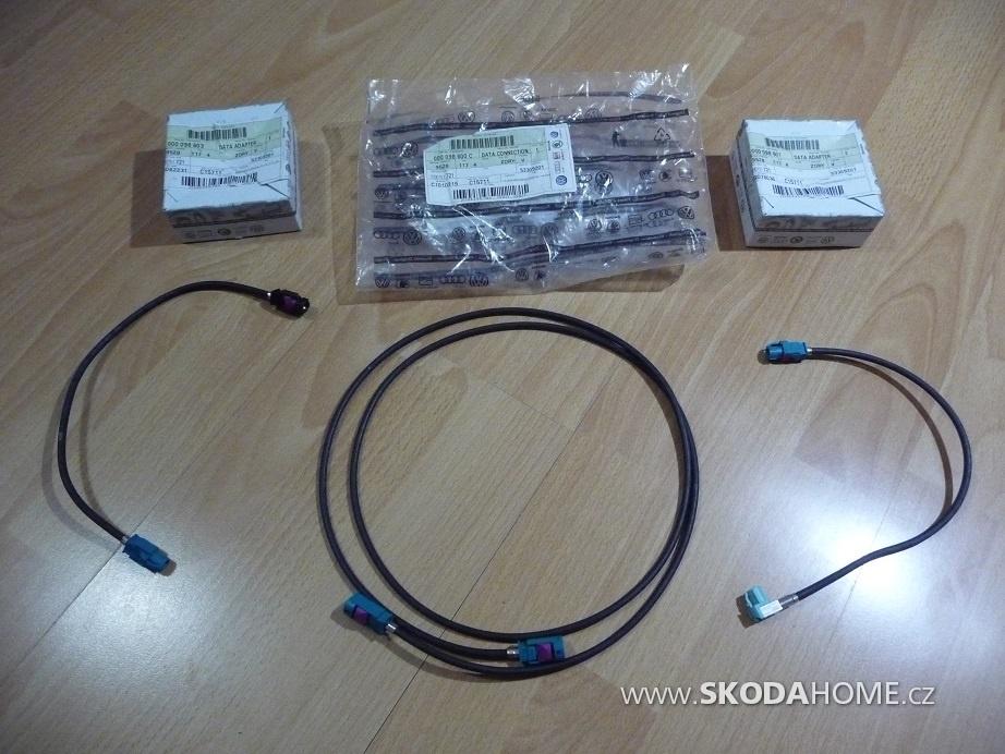 13 Kabel prepojenia zobraz.jednotky S radiom   Z 3 casti