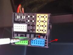Modrý PIN konektor