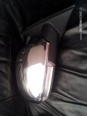 Zrcatko facelift s chromovou krytkou